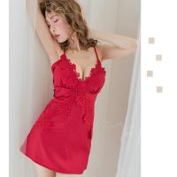 Váy ngủ gợi cảm cùng quần lót nữ lọt khe trong suốt - Màu Đỏ, Trắng Free size - Khiến chàng ham muốn bạn - vay-ngu-cheo-day-dinh-hoa-goi-cam-tk3015-8.jpg