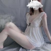 Váy ngủ xẻ lưng hở mông sexy - Màu Trắng, Hồng Free size - Thiêu đốt ánh nhìn chàng ấy - vay-ngu-de-thuong-ngot-ngao-tk684-3.jpg
