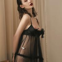 Váy ngủ hở ngực xuyên thấu kèm quần lót nữ sexy - Màu Đen Free size - Khiến chàng ham muốn bạn - vay-ngu-ho-nua-nguc-goi-cam-tk2070-4.jpg