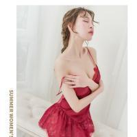 Váy ngủ thiên nga siêu mỏng kèm quần lót nữ - Màu Đỏ Free size - đêm ngọt ngào - vay-ngu-om-eo-goi-cam-tk3013-1.jpg