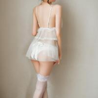 Váy ngủ ren trắng cô dâu ngọt ngào gợi dục - Màu Trắng Free size - Làm chàng chưa ra chợ đã hết tiền - vay-ngu-ren-trang-co-dau-ngot-ngao-sexy-tk3064-1.jpg