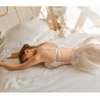 Váy ngủ cô dâu ren ôm ngực sexy gợi cảm - Màu Trắng cỡ M - Làm chàng mê mẩn - vay-ngu-sexy-ngot-ngao-tk3025-2.jpg
