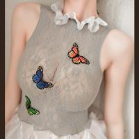 Váy ngủ thiên nga lưới ôm thêu cánh bướm sexy - Màu Xám Free size - Khơi dậy ham muốn - vay-ngu-thien-nga-sexy-tk3020-9.jpg