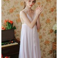 Váy ngủ 2 dây dolly - Màu Trắng, Hồng phấn Free size - Mê hoặc đối phương - vay-ngu-tieu-thu-de-thuong-tk2263-8.jpg