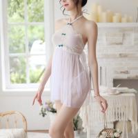 Đầm ngủ hở lưng yếm kèm quần lót nữ sexy - Màu Trắng Free size - đêm ngọt ngào - vay-ngu-yem-ho-lung-trong-suot-tk2073-9.jpg