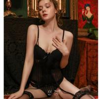 Váy ngủ 2 dây cùng quần lót nữ sinh + kẹp vớ gợi tình - Màu Đen cỡ S, M - Mặc vào cùng lên đỉnh luôn và ngay - corset-mut-nguc-kep-vo-tk2250-2.jpg