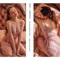 Váy ngủ siêu gợi cảm cùng quần lót nữ gợi cảm - Màu Đỏ đô, Hồng tím Free size - Hàng hot - dam-ngu-diu-dang-xuyen-thau-tk2460-9.jpg