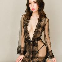 Váy ngủ 2 dây kèm quần lót lưới nữ trong suốt + Áo ngực thể thao - Màu Trắng, Đen - Yêu đầy đam mê - do-ngu-sexy-ao-choang-mong-tk2363-12.jpg