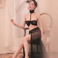 Đồ ngủ sexy với chân váy dài - Màu Đen Free size - Dịu dàng - tk1802-do-ngu-sexy-5.jpg