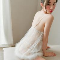 Váy ngủ siêu gợi cảm cùng quần lót nữ không đáy - Màu Trắng cỡ M - Làm chàng không thể chối từ - vay-ngu-sexy-long-vu-de-thuong-tk2362-6.jpg