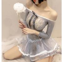 Váy ngủ gợi cảm cùng vòng chân / đùi tinh nghịch - Màu Xanh ghi nhạt cỡ M - Lâu hơn, sâu hơn - vay-ngu-sexy-tre-vai-tk2459-5.jpg