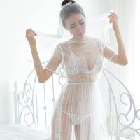 Đầm ngủ cô dâu trắng trong suốt - Màu Trắng Free size - Hâm nóng cảm xúc - tk1025-vay-ngu-co-dau-2.jpg