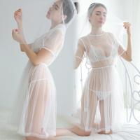 Đầm ngủ cô dâu trắng trong suốt - Màu Trắng Free size - Hâm nóng cảm xúc - tk1025-vay-ngu-co-dau-4.jpg