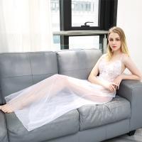 Set đồ ngủ cô dâu trắng voan sexy - Màu Trắng Free size - Khơi dậy ham muốn - tk1342-set-do-ngu-trang-sexy-4.jpg
