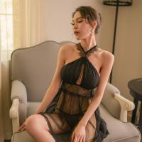 Váy ngủ siêu mỏng dạng yếm sexy - Màu Đen Free size - Hâm nóng cảm xúc - tk1357-dam-ngu-sieu-mong-2.jpg