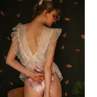 Áo ngủ jumpsuit lụa viền ren dễ thương - Màu hồng phấn Free size - Yêu đầy đam mê - tk1758-do-ngu-jumpsuit-lua-de-thuong-3.jpg