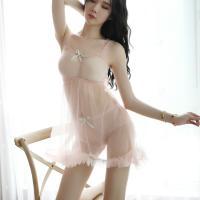 Váy ngủ cụp ngực xuyên thấu ngọt ngào - Màu hồng phấn Free size - Làm chàng hưng phấn tột đỉnh - tk1818-vay-ngu-cup-nguc-xuyen-thau-5.jpg