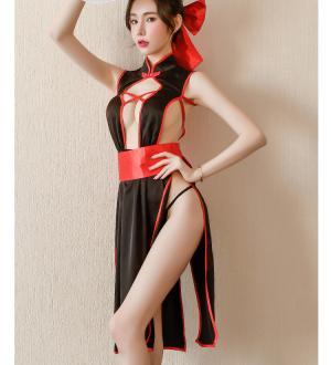 Áo ngủ sườn xám cosplay phù thuỷ sexy kèm cài tóc dễ thương - Màu Đen Free size - Thăng hoa cùng người ấy - suon-xam-phu-thuy-tk2172-2.jpg