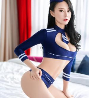 Váy ngủ hở ngực sexy cosplay nữ cảnh sát cùng quần lót nữ siêu mỏng kèm mũ - Màu Xanh cỡ M - Thật gợi tình - tk1863-do-ngu-cosplay-canh-sat-sexy-4.jpg