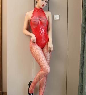 Quần lót nữ ren kèm Áo lót nữ - Màu Đỏ, Đen cỡ S, M, L - Cuốn hút - bodysuit-bang-da-co-yem-tk2479-2.jpg