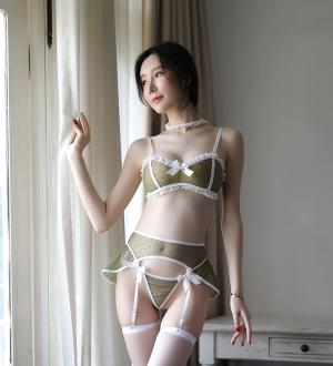 Áo nâng ngực không dây kèm kẹp vớ người tình - Màu Đen, Hồng, Xanh, Chấm bi cỡ M - Khêu gợi - do-lot-kep-vo-sexy-tk1587-2.jpg