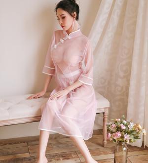 Váy ngủ ren kèm quần lót lọt khe nữ hà nội + Áo ngực trong suốt - Màu Trắng, Hồng cỡ M - Sắp hết hàng - tk1692-do-ngu-nu-sinh-1.jpg