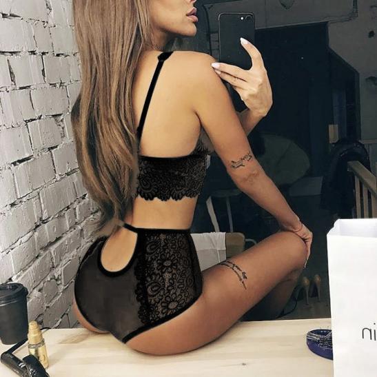 Áo nịt ngực cùng quần lót nữ ren - Ảnh 2