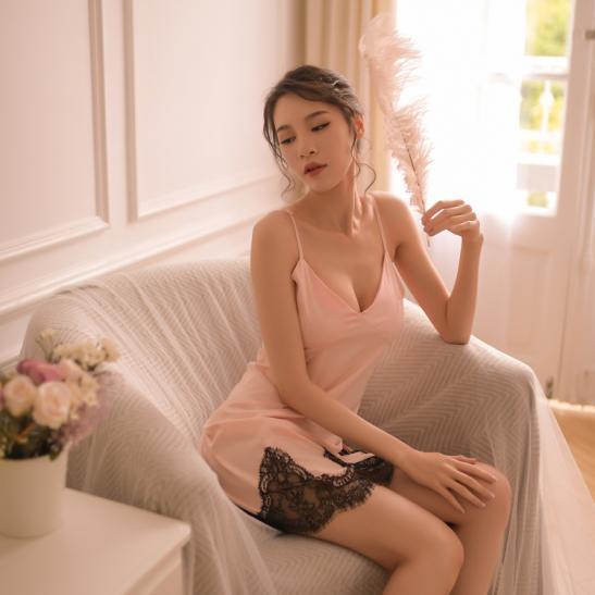 Váy ngủ siêu gợi cảm kèm quần lót nữ gợi dục - Ảnh 1
