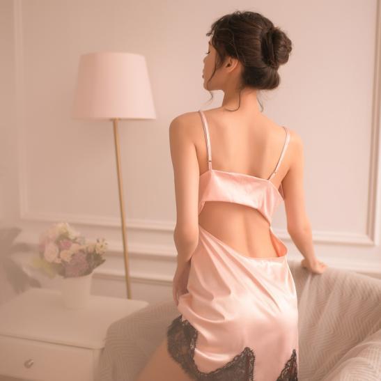 Váy ngủ siêu gợi cảm kèm quần lót nữ gợi dục - Ảnh 3