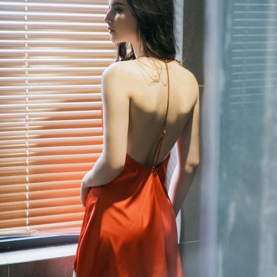 Váy ngủ ren cùng quần lót nữ - Ảnh 2