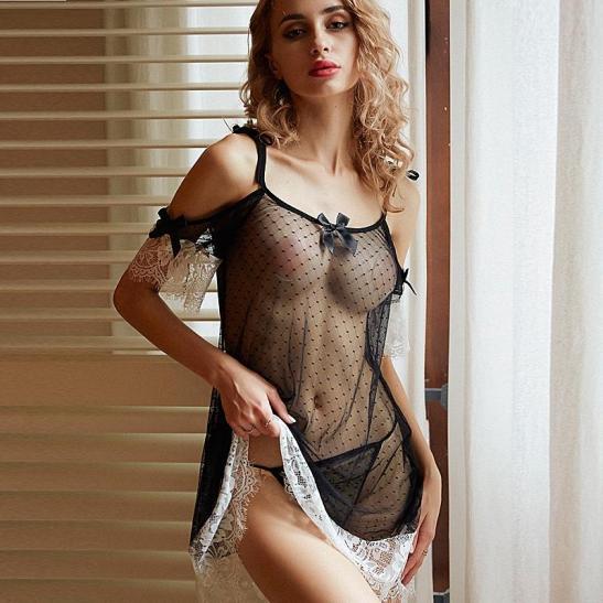 Đầm ngủ sexy kèm quần lót nữ gợi cảm - Ảnh 1