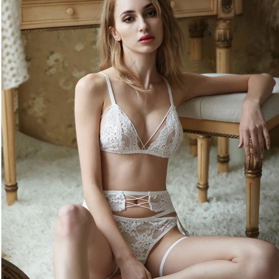Áo ngực bra cùng quần lót nữ bằng lưới - Ảnh 5