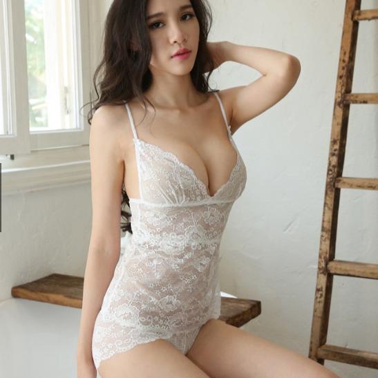 Bộ ngủ kèm Áo ngực bra + quần lót nữ ren - Ảnh 4