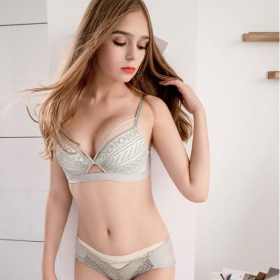Áo nâng ngực tạo khe gồm quần lót nữ ren quyến rũ - Ảnh 5