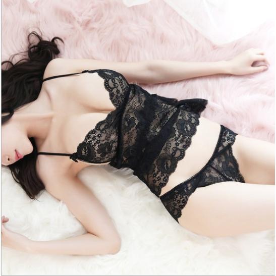 Bộ ngủ kèm Áo ngực bra + quần lót nữ ren - Ảnh 7
