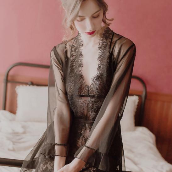 Váy ngủ trong suốt gồm quần lót nữ đẹp nhất - Ảnh 3