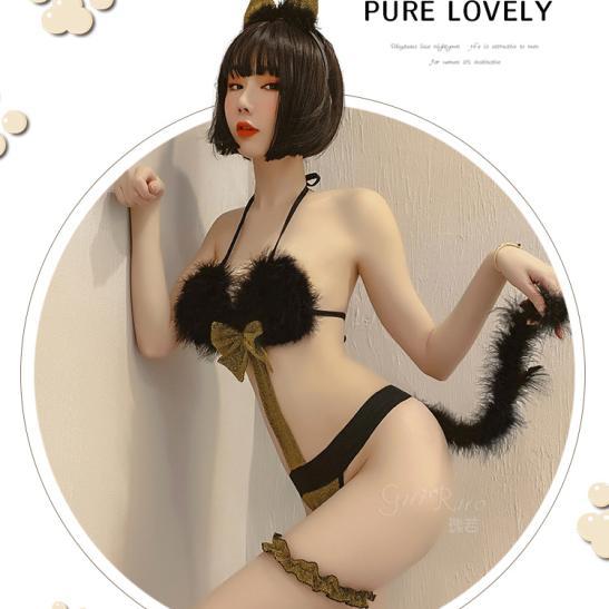 Váy ngủ Cosplay miêu nữ sexy quyến rũ kèm vòng chân / đùi người tình - Ảnh 5