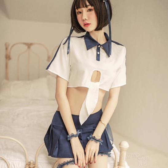 Váy ngủ Cosplay nữ sinh Nhật Bản sexy - Ảnh 6