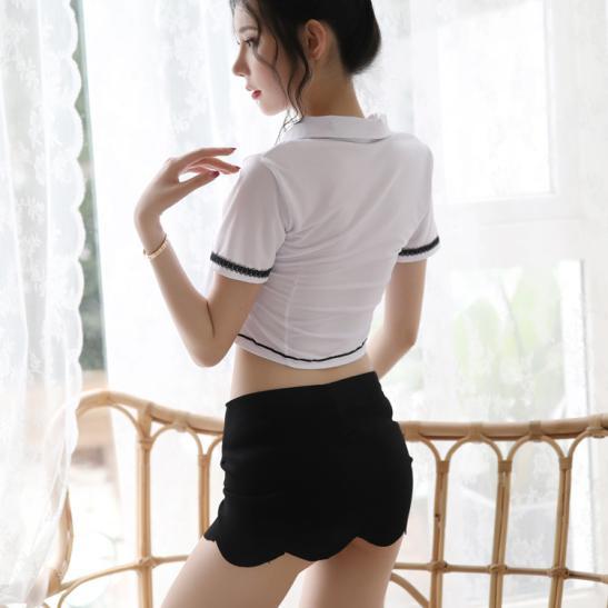 Váy ngủ thư ký trẻ trung gợi dục - Ảnh 3