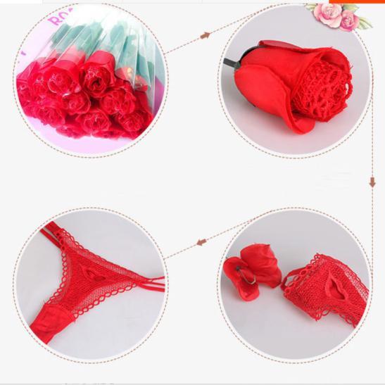 Quần lót nữ lọt khe nóng bỏng với tạo hình Quần hoa hồng - Ảnh 2