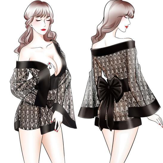 Váy ngủ ren xuyên thấu gợi cảm - Ảnh 5