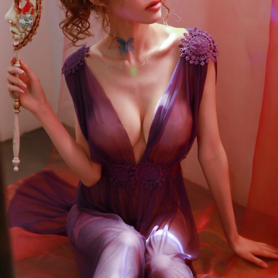 Váy ngủ xẻ dài gợi cảm cùng quần lọt khe xuyên thấu - Ảnh 14