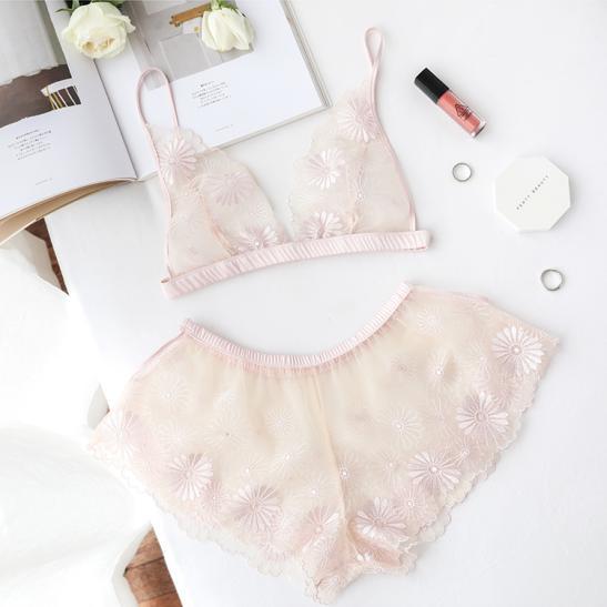 Áo ngực sexy gồm quần lót nữ trong suốt - Ảnh 4