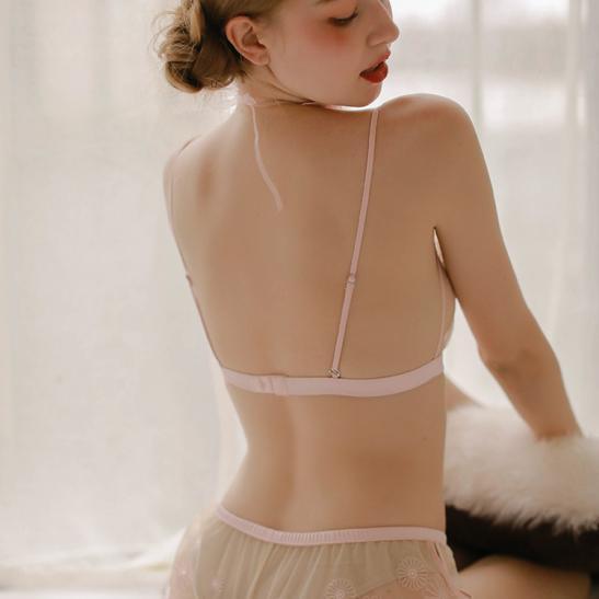 Áo ngực sexy gồm quần lót nữ trong suốt - Ảnh 6