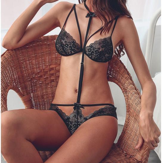 Áo ngực sexy kèm quần lót nữ bằng ren mỏng dính - Ảnh 5