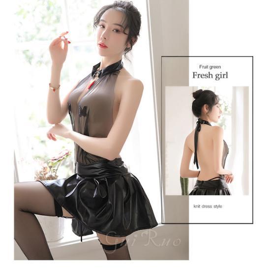 Váy ngủ xuyên thấu, hở lưng gợi cảm cosplay người tình kèm kẹp vớ - Ảnh 3
