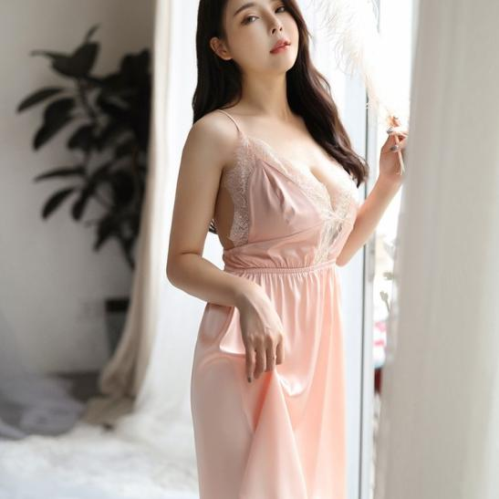 Váy ngủ phi lụa mềm mỏng quyến rũ - Ảnh 8