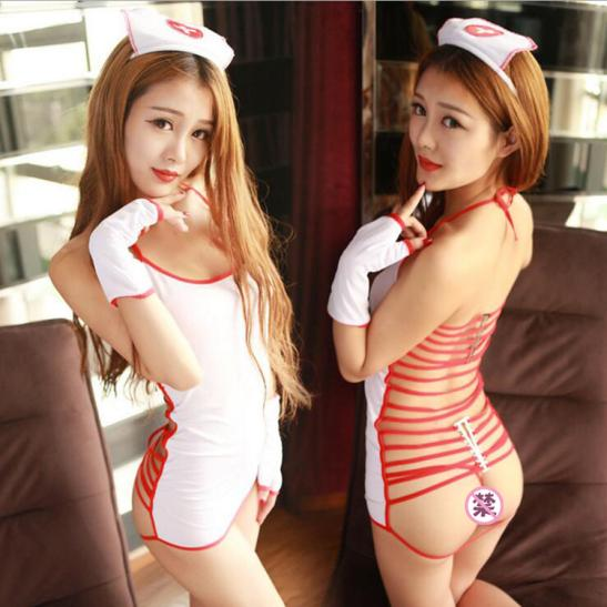 Đầm ngủ cosplay nữ y tá nóng bỏng - Ảnh 1