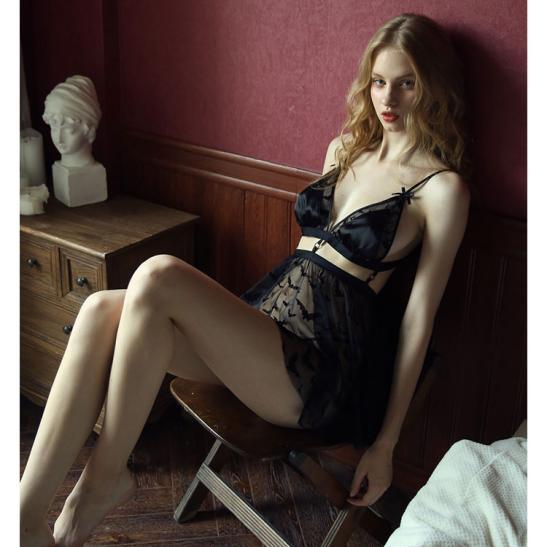Váy ngủ xuyên thấu cao cấp kèm quần lót nữ đẹp nhất - Ảnh 4