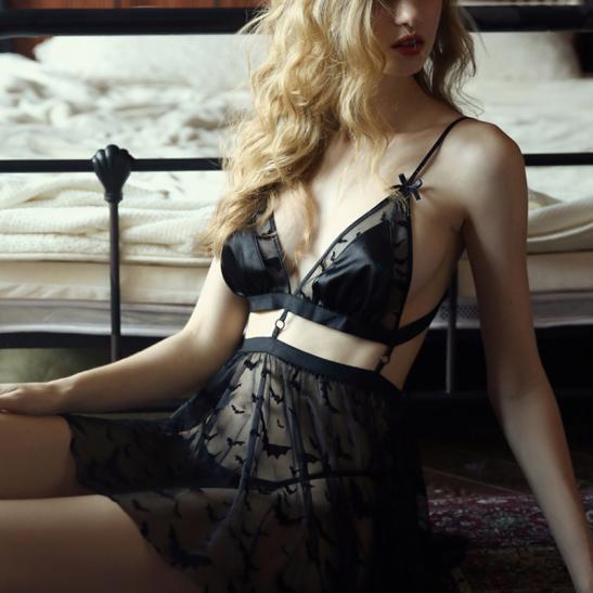 Váy ngủ xuyên thấu cao cấp kèm quần lót nữ đẹp nhất - Ảnh 2